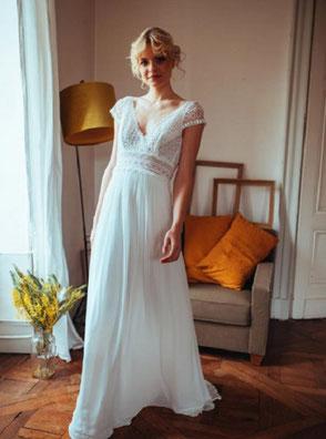 Robe de mariée Ombeline fluide Elsa Gary région parisienne