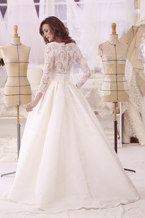 robe de mariée princesse en mikado de soie