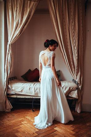 robe de mariée bohème Louise par Elsa Gary fabrication française