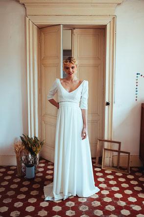 robe de mariée Lina par Elsa Gary fabrication française