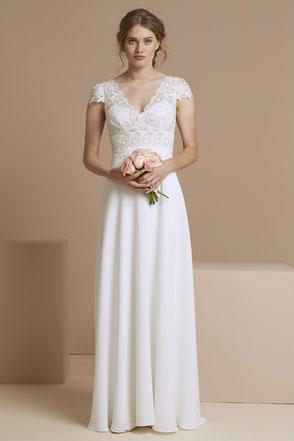 robe de mariée bohème chic fluide Yvelines 78