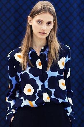 unikko anniversary silk blouse bluse hedwig Freiburg