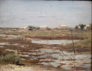 """Guillaume Alaux. """"L'ile aux oiseaux"""". Bassin d'Arcachon"""
