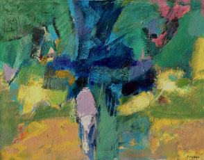 Jean Hugon. Peinture à L'huile sur toile.