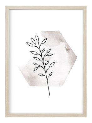 Poster Hand, Poster Natur, Poster Pflanzen, Bild Natur, Bild Pflanzen, Bild Naturmotiv, Kunstdruck