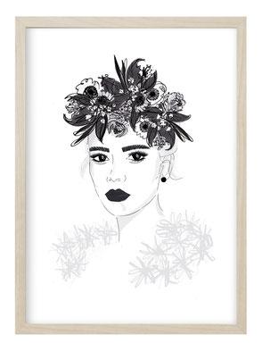 Poster, Kunstdruck, Poster Natur, Poster Schwarz Weiß, Schwarz Weiß Bild, Geschenk Freundin, Bild Natur