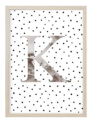 Poster Buchstaben, Poster Alphabet, Poster Individuell, Kunstdruck, Bild Buchstaben, Bild Alphabet, Geschenk zur Geburt, Personalisiertes Poster, Personalisiertes Bild, Geschenk Individuell