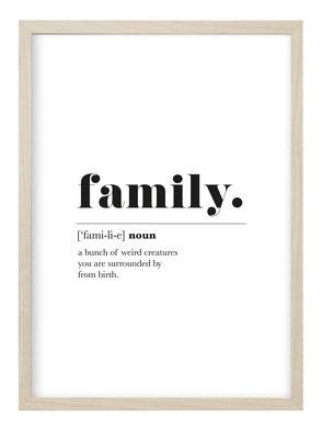 schwarz weiß Poster, schwarz weiß Kunstdruck, schwarz weiß Sprüche Poster, schwarz weiß Family Poster, Poster Family, Family Kunstdruck