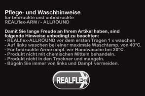 REALflex-Pflege- und Waschhinweise