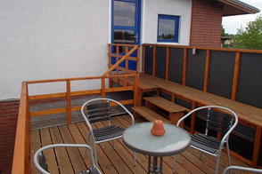 Dachterrasse der Ferienwohnung - Foto: KÄPPLER FeWo, Stade