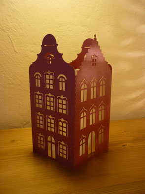 Photophore Maisons flamandes rouge
