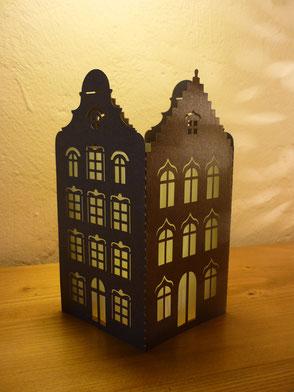 Photophore maisons flamandes marron