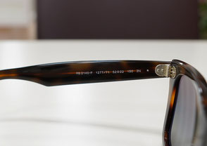メガネ・サングラスのサイズや品番の写真