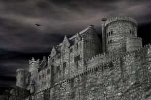 am PC konstruierte Fantasy-Burg