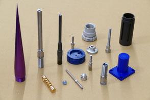 Rogenmoser Beispiele für CNC Drehteile aus verschiedenen Materialien
