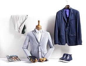 saarclean, Schuhreparatur-Service, dekorierte Kleidung mit Schuhen