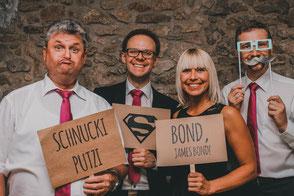 Hochzeitsband Bayern - An der Fotobox