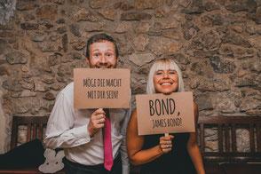 Hochzeitsband Donau Ries - Alex und Bianca in der Fotobox
