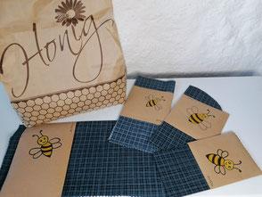 Bienenwachstücher in verschiedenen Größen