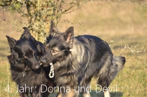 Donna mit 4 Jahren und Devil