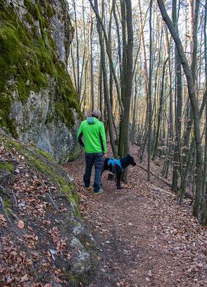 Wandern mit Hund, Urlaub mit Hund, Bergurlaub mit Hund, Wandern in Franken