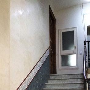 Pintors Barcelona. Restauración estuco al fuego en finca catalogada. Pintores en Ciutat Vella, Eixample, Gràcia, Sarria, Les Corts, la  Bonanova