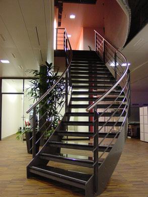 Treppe Metallbau Büro Sälipark Olten
