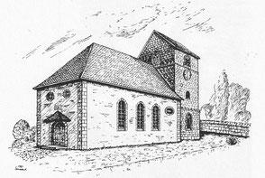 kirche, dudweiler, saarbruecken, alter turm