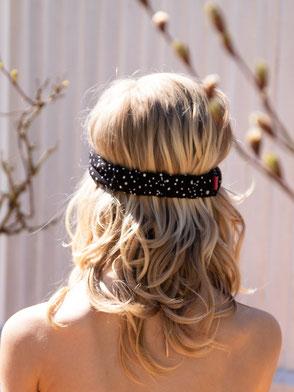Haarband, Musselin, Grau / Bandana, Muslin, Grey