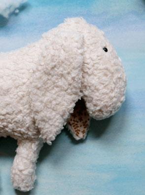 Schmusetier Esel, Handgemacht, Strukturstoff / Cuddly Toy Donkey, Handmade, Structural Fabric