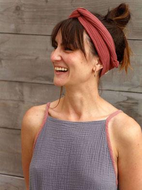 Kopftuch, Musselin, Staubrot / Headscarf, Muslin, Dusty Red