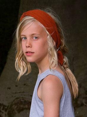 Kopftuch, Grau, Kupferpunkte / Headscarf, Grey, Copper Dots