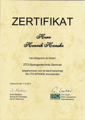 Zertifikat 3to-Therapeut
