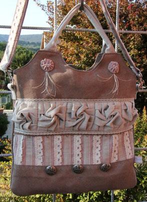 Madame Marie, Aus meinem Atelier, Taschen, Alma, in beige-altrosa