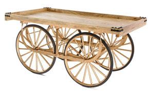 Präsentationswagen für die Tombola-Preise