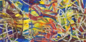 Gemälde ohne Titel, 210 x 420 cm (Triptychon) Foto: Martin Url, Frankfurt