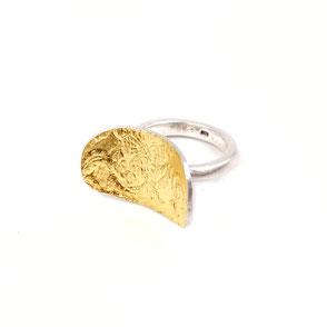 Feinsilber mit 24 k Gold Beschichtung, € 240.-