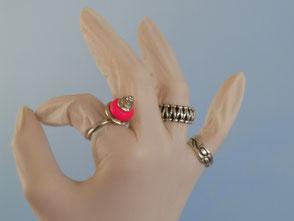 Rosa Prinzessinnenring | Silber,  austauschbare Glasperle, Zirkon | € 340.-