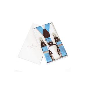 Stilvolle Hosenträger mit edlem Leder - die Herren Edel. Geweih weinrot