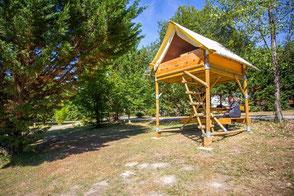 Cabane-tente Bivouac pour 2 ( possibilité d'installer une petite tente)