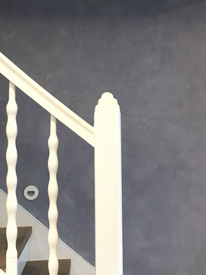 Edelputz im Treppenhaus