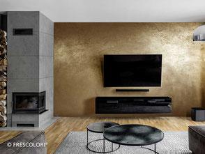 Edle goldene Metalloberflächen