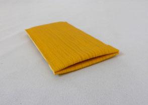 iPhonehülle Plissee gelb