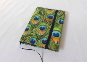 A5 Notebook Peacock Feathers