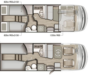 Mobilvetta K-Yacht Tekno Design 85 Grundriss