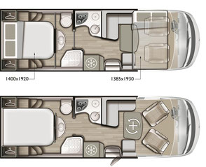 Mobilvetta K-Yacht 79 Tekno Line Grundriss