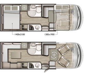Mobilvetta K-Yacht 80 Tekno Line Grundriss