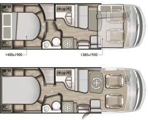 Mobilvetta K-Yacht Tekno Design 89 Grundriss