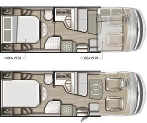 Mobilvetta K-Yacht Tekno Design 79 Grundriss