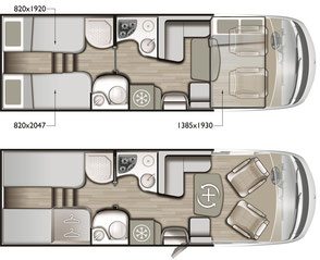 Mobilvetta K-Yacht Tekno Line 85 Grundriss